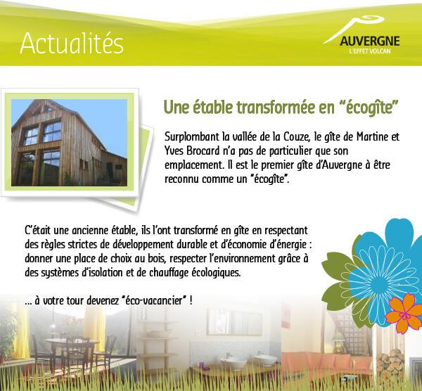 Auvergne l'effet volcan