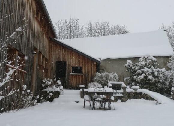 Terrasse l'hiver